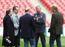 GBR: Fußball verficht Liga-Schluss 2011 Lizenzfreie Stockfotos