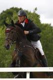 GBR: L'equites Hickstead salta il derby 2011 Fotografia Stock Libera da Diritti