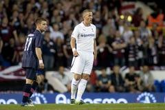 GBR: Liga do Europa do UEFA do futebol, corações 25/08/2011 de Tottenham v Fotografia de Stock