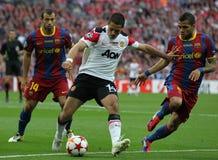 GBR: O futebol patrocina o final 2011 da liga Foto de Stock Royalty Free