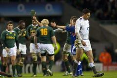 GBR-rugby fackliga England Vs Sydafrika royaltyfri fotografi