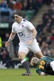 GBR rugby Zrzeszeniowy Anglia Vs Południowa Afryka Obrazy Royalty Free