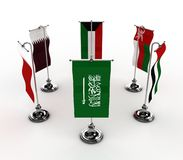 GCC Flags Royalty Free Stock Photo