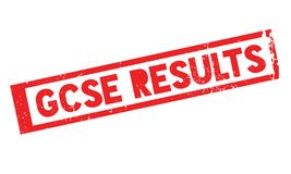 Gcse Results rubber stamp Stock Images