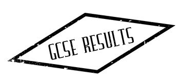 Gcse Results rubber stamp Stock Image