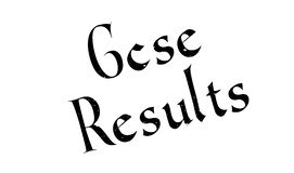 Gcse Results rubber stamp Stock Photos