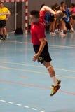 GCUP 2013年手球。格拉诺列尔斯。 库存照片