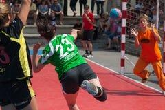 GCUP 2013年手球。格拉诺列尔斯。 免版税库存图片