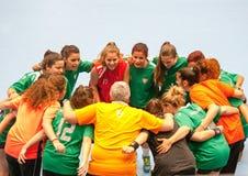 GCUP 2013年手球。格拉诺列尔斯。 免版税库存照片