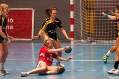 GCUP-handboll 2013. Granollers. Arkivbild