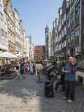 Gdañsk Pologne l'Europe de mariacka de rue images stock