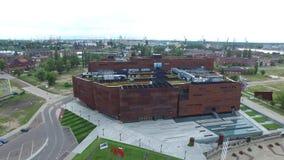 "GdaÅ ""sk,欧洲团结中心,波兰, 07 2016年,空中英尺长度 股票录像"