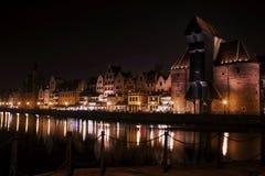Gdańsk Danzig by night Stock Image