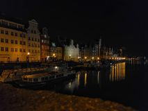 Gdańsk old town. Long exposure photo of the old town Royalty Free Stock Photo