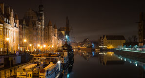 Gdańsk old town, nightshot. Gdansk`s old town photographed in late evening Royalty Free Stock Image