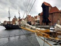 Gdańsk  old town to Motlawa Stock Photos