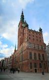 Gdańscy najwięcej Popularny Hall Zegarowy wierza w Polska, Mokafin - Zdjęcie Stock