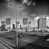 Gdańska Zaspy architektura Artystyczny spojrzenie w czarny i biały Fotografia Royalty Free