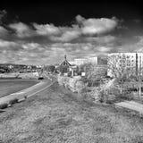 Gdańska Zaspy architektura Artystyczny spojrzenie w czarny i biały Zdjęcie Royalty Free