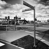 Gdańska Zaspy architektura Artystyczny spojrzenie w czarny i biały Fotografia Stock