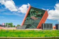 Gdański, Polska, Czerwiec - 14, 2017: Buidling muzeum Drugi wojna światowa w wiośnie Fotografia Royalty Free