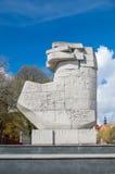 Gdański, Polska, Kwiecień - 27, 2017: Pomnik Teutoński przejęcie Gdański Danzig Zdjęcie Royalty Free