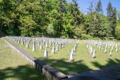 Gdański, Polska, Maj - 22, 2017: Radziecki Militarny cmentarz w Gdańskim Obrazy Royalty Free
