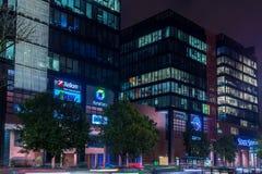 GDAŃSKI, POLSKA, Październik - 11, 2017: Nowożytna budynek architektura Obraz Stock