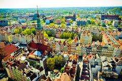 Gdański przy ptaka oka widokiem zdjęcie royalty free