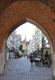 Gdański, Sierpień 25: Mariacka ulica w Gdańskim od Polska obraz royalty free