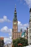 Gdański, Sierpień 25: Urzędu Miasta (Ratusz) śródmieście w Gdańskim od Polska Fotografia Royalty Free