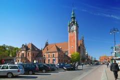 Gdańscy stacyjni budynków grad Fotografia Stock