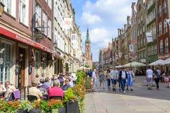 Gdański historyczny stary miasteczko Obrazy Royalty Free