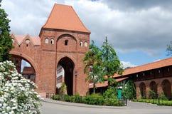 gdaniskopoland torun för 13th århundrade torn Fotografering för Bildbyråer