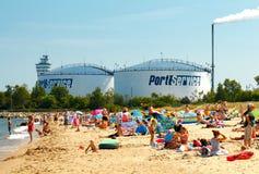 gdansk Пляж города стоковая фотография
