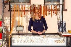 gdansk янтарные ювелирные изделия Стоковая Фотография RF