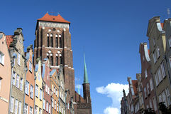 Gdansk. The view of cathedral tower in Gdansk (Poland Stock Photography
