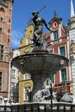 Gdansk. Statue of Neptune on the old market in Gdansk Stock Image