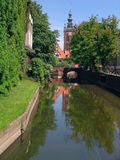 Gdansk-47. Gdansk,old city. River  Radunia, which it flows by civic center Royalty Free Stock Image