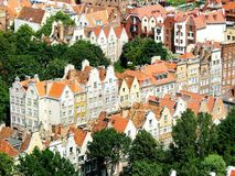 Gdansk. Overlook over the ancient city Gdansk Poland Royalty Free Stock Photo