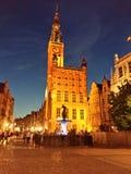 Gdansk am Abend lizenzfreies stockbild