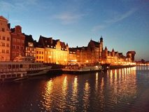 Gdansk am Abend stockfoto