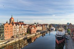 Gdansk aerial view royalty free stock photo