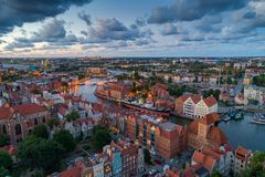 Gdansk aerial view stock images