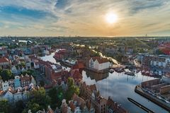 Gdansk aerial view stock photo