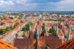Gdansk, aerial view, Poland Royalty Free Stock Photo