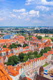 Gdansk, aerial view, Poland Royalty Free Stock Photography