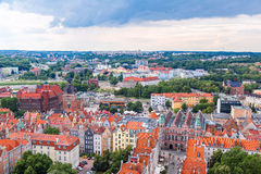 Gdansk, aerial view, Poland Royalty Free Stock Photos
