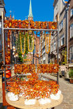 Gdansk. Amber Jewelry. Royalty Free Stock Photography