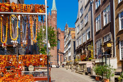 Gdansk. Amber Jewelry. Stock Photos
